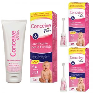Conceive Plus Lubrificante per fertilità lubrificante a pacchetto TTC + 18 applicatori